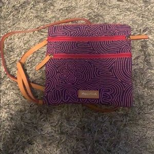 Dooney and bourke crossbody, pink and navy